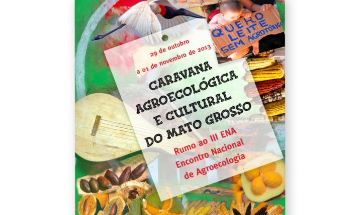 <p>Cartaz para Caravana Agroecológica e Cultural do Mato Grosso 2013</p> <p></p>