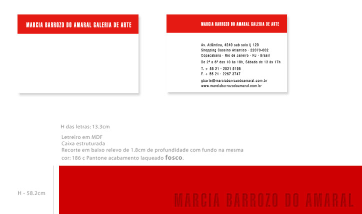 <p>cliente// Marcia Barrozo do Amaral Galeria de Arte</p> <p>identidade visual da Galeria incluindo papelaria, letreiro, anúncios e catálogos</p> <p></p>